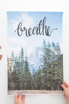 DIY Lettered Photo Wall Art