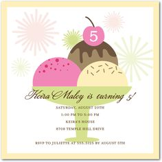 Triple Scoop - Birthday Party Invitations - Hello Little One - Bisque - Neutral : Front