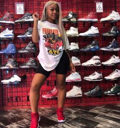 Super How To Be A Baddie Outfit Casual Ideas Cycling Shorts Outfit Baddie Casual Ideas outfit super Baddie Outfits Casual, Chill Outfits, Sporty Outfits, Dope Outfits, Swag Outfits, Trendy Outfits, Black Girl Fashion, Teen Fashion, Fashion Outfits