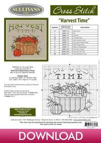 Harvest Time, Joy, designed by Sue Hillis Designs, from Sullivans' Autumn Collection.
