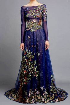 11.06.15| Fabulous color, material, and embroidery selection | HAMDA AL FAHIM Couture Spring/Summer 2015