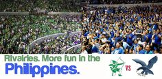RIVALRIES. More FUN in the Philippines! -- ONE BIG FIIIGHT! Go Ateneo! Philippines Tourism, Philippines Culture, Tourism Department, Pinoy, More Fun, Slogan, Wanderlust, Universe, Politics