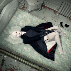 Ray Caesar. The Trouble with Angels He's my favorite artist with Mab Graves =^.^=