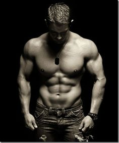 Muscular, hot... in sort, every girl's dream.
