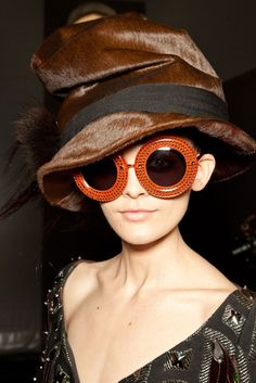 cool chic style fashion: LOUIS VUITTON backstage fall 2012