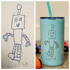 eab6576ef97 Custom Artwork Skinny Mini Cup Sic Cups, Kid Styles, Business Products,  Coffee Cups