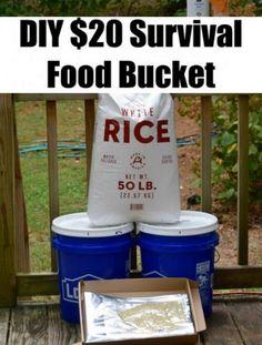 DIY $20 Survival Food Bucket - DIY Gift World