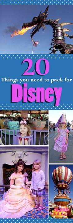 20 Packing Tips for your trip to Disney.  From ponchos to tea bags, have a look at my essential list on what to pack for your holiday to Disney!