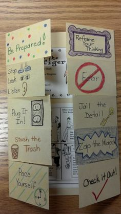 Test Taking Foldable-- have kids create before the state test