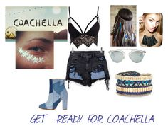 """""""Get ready for coachella ✌️✨"""" by terlizzlle on Polyvore featuring Alexander Wang, Club L, River Island, Christian Dior, GET LOST and Stella & Dot"""