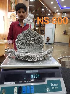 Silver Cutlery, Silver Trays, Silver Jewelry, Silver Lamp, Silver Filigree, Antique Silver, Pooja Room Door Design, Ceiling Design Living Room, Silver Pooja Items