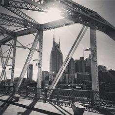 Downtown between bridge