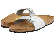 Birkenstock Madrid Slip-On Silver Birko-Flor™ - Zappos.com Free Shipping BOTH Ways