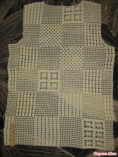 ". Рубашка ""Пэчворк"" Black Crochet Dress, Crochet Blouse, Knit Crochet, Crochet Hats, Crochet Pincushion, Crochet Patterns Amigurumi, Crochet Stitches, Filet Crochet, Crochet Fashion"
