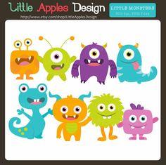 Little Monster Clip Art / Little Monster Clipart / by DreamyDuck