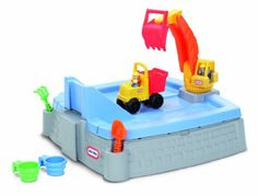 Little Tikes Outdoor Toys Featuring Big Digger Sandbox Includes Dump Truck and Other Accessories, Multicolored, Great for Kid's Activity Play ** Check out the image by visiting the link. (This is an affiliate link and I receive a commission for the sales) Little Tikes Outdoor Toys, Little Tikes Sandbox, Outdoor Toys For Toddlers, Sandbox Sand, Kids Sandbox, Construction Theme, Thing 1, Beach Toys, Toys Online