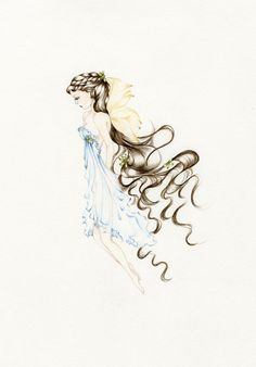 Fairy Art Pencil Drawing Illustration Giclee by ABitofWhimsyArt, $30.00