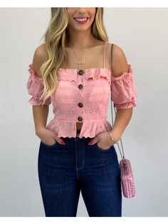 Bright Summer Outfits, Colourful Outfits, Spring Outfits, Girls Fashion Clothes, Girl Fashion, Fashion Outfits, Clothes For Women, Off Shoulder Outfits, Myanmar Dress Design