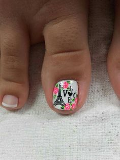 Gel Nail Art, Nail Manicure, Toe Nails, Coffin Nails, Cute Pedicures, Wedding Manicure, Nails 2018, Trendy Nail Art, Toe Nail Designs