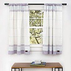 "Shower Curtain Moonbeam 72 By 96/"" Cotton Sadie Multiple Stripes Subtle Blue Tone"