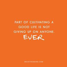Not giving up. beckyhiggins.com