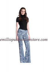 Emilio Pucci Multicolored Printed Jersey Flared Trousers