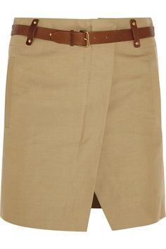 ISABEL MARANT Handy Cotton And Linen-Blend Mini Skirt. #isabelmarant #cloth #skirts