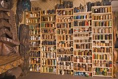 Amazing vintage tiki mug collection.