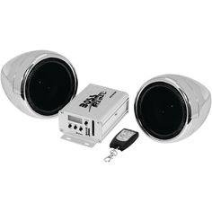BOSS AUDIO MC520B 600-Watt Motorcycle-ATV Sound System with FM Tuner & Bluetooth(R) (Silver)