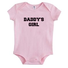 Daddy and Daughter baby onesie bodysuite //Price: $13.50 // #baby