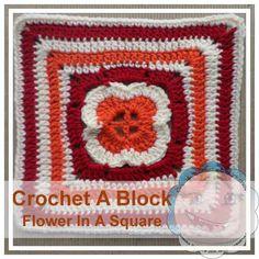 Free crochet pattern: Flower in a Square (Crochet A Block CAL) by Creative Crochet Workshop