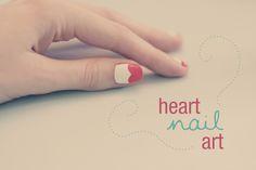 DIY Heart Nail Art