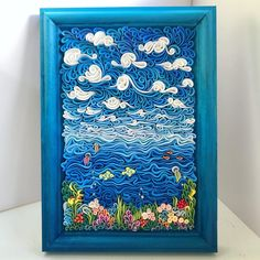 Aggiornamenti di LiskaFlower su Etsy Ceramic Sculptures, Wall Sculptures, Sky And Clouds, Underwater World, Halloween Kids, Clay Art, Framed Art, Polymer Clay, Scenery