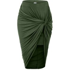 LE3NO Womens Asymmetrical Banded Waist Wrap Cut Out Hi Low Skirt ($17) ❤ liked on Polyvore featuring skirts, long wrap skirt, asymmetrical wrap maxi skirt, green maxi skirt, sexy long skirts and high low skirt