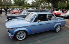 Fjord Blue, custom built BMW 2002_ side view_cars&coffee/irvine_May 10, 2014