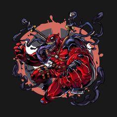 Deadpool Animated, Deadpool Art, Deadpool Funny, Marvel Venom, Marvel Art, Marvel Dc Comics, Marvel Heroes, Deadpool Stickers, Venom Art
