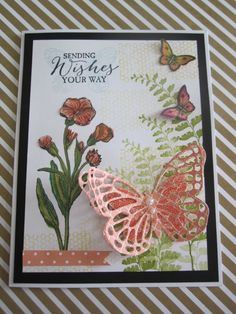 Debbie Reed stampin up card made with Butterfly basics stamp set.