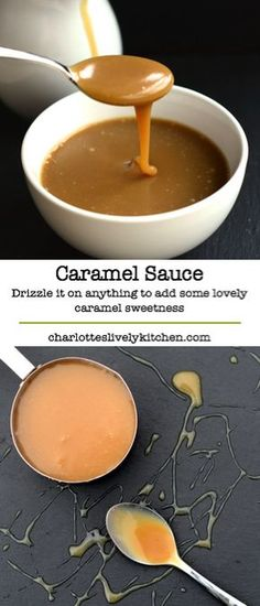 Delicious caramel sauce – Quick and easy to make with just three ingredients. Drizzle it on pretty much anything to add some lovely caramel sweetness. More