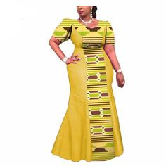 Choose your size below Different fabrics/Prints choices available for a customized order This dress is made to order, it would take a week to create Please send me a message with your size & color choice .100% African Wax Print PS: If you want to customize it with you measurement. please provide us with the following measurement details: Estimated Delivery Time:12-20days Special Use: Traditional Clothing Item Type: Africa Clothing Type: Kanga Clothing Material: Cotton Material: 100% Cotton…