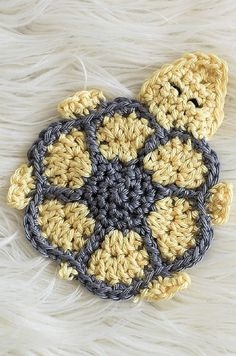 [Free Pattern] Absolutely Adorable Turtle Crochet Coaster Pattern