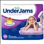 Pampers Underjams Diapers For Girls Size 7 17 CT (Pack of 16)
