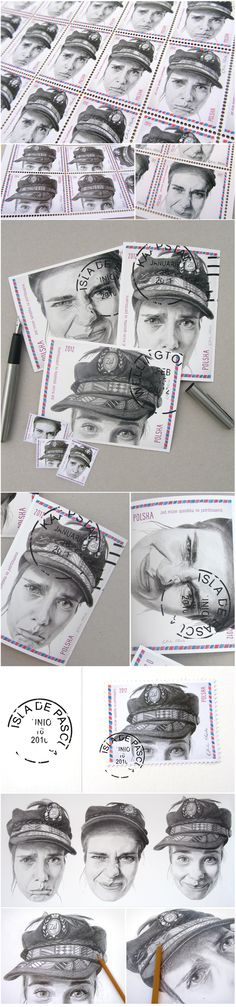 There are a million ways to travel...Here is one of them..  Postcards and stamps -  Limited edition    Self-portrait