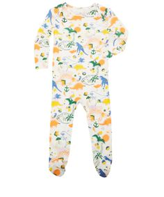 Stella McCartney Kids Age 3M to 18M White Rufus Dinosaur Print Bodysuit
