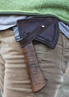 Custom hand hatchet by Guinea Hog Forge