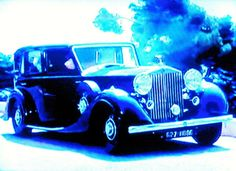 """""""Blue Rolls Royce"""" by Dietmar Scherf ... #cars #automobile #interiordesign #garage #rollsroyce #nostalgia"""