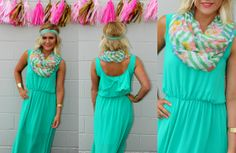 Maxi dress season is upon us! We LOVE this look!   https://www.facebook.com/photo.php?fbid=222547461275496&set=a.222547431275499.1073741831.211182122412030&type=1&theater