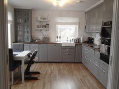 58 Best Ideas for kitchen ikea bodbyn grey - kitchen remodel - Bodbyn Kitchen Grey, Grey Ikea Kitchen, Bodbyn Grey, Ikea Kitchen Cabinets, Grey Kitchens, Grey Cabinets, Kitchen Redo, Kitchen Layout, New Kitchen
