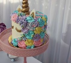 Unicorn Theme Birthday Party Cake 2