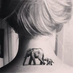 Animal, neck tattoo on TattooChief.com