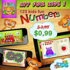 New!! 123 Kids Fun Numbers! :) https://itunes.apple.com/us/app/123-kids-fun-numbers/id641510986?mt=8